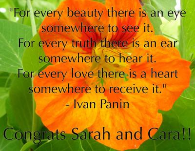 Sarah and Cara!