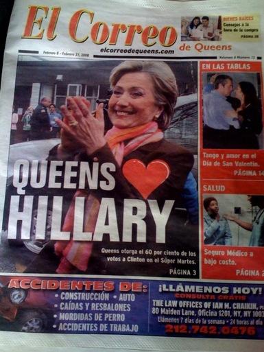 Queens Love Hillary